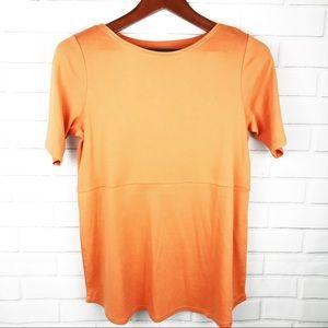 J Jill Orange Shirttail t-Shirt size medium